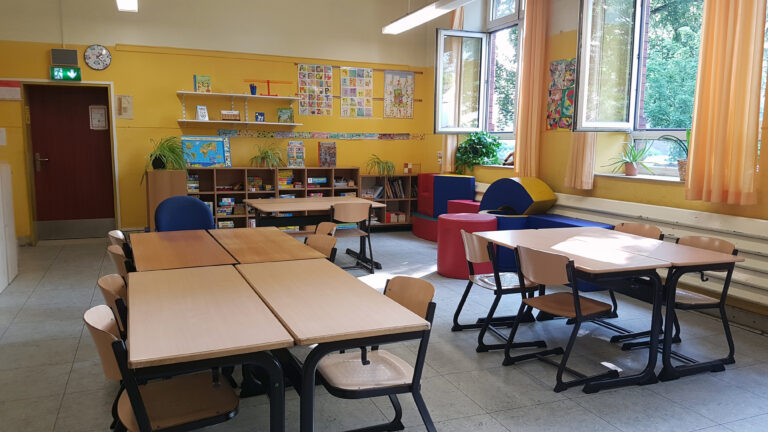 Das ist der Förderraum unserer pädagogischen Fachkraft für die Schuleingangsphase.