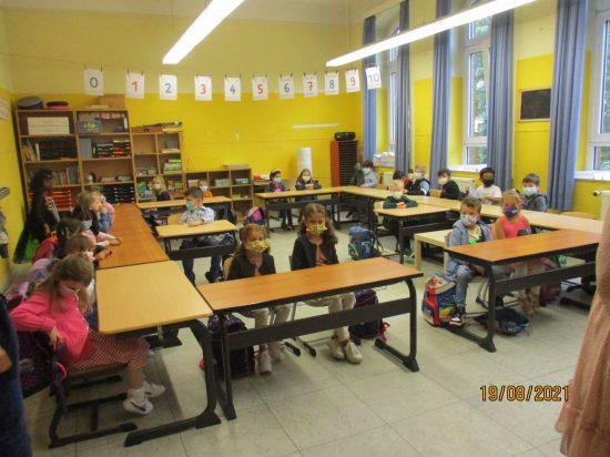 Direkt danach wurde der Klassenraum in Beschlag genommen.
